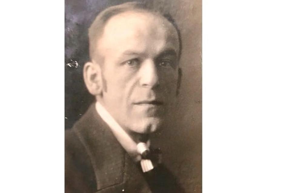 Das letzte Foto von Fritz Neumann-Hegenberg, das im März 1924 aufgenommen wurde. Es stammt aus dem Nachlass der Witwe.