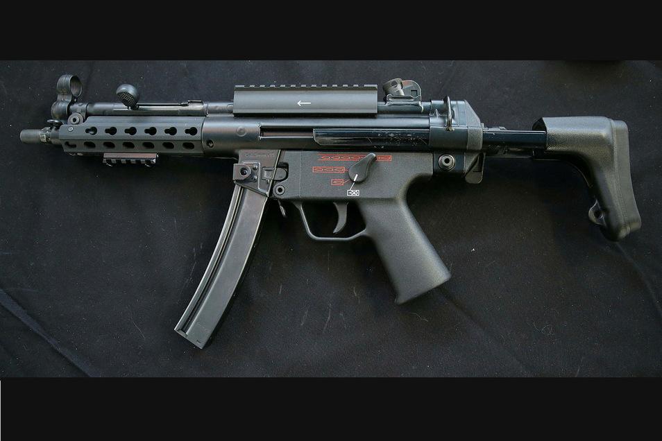 Eine Maschinenpistole MP5 von Heckler und Koch ist bei der Polizei seit drei Jahren verschwunden.