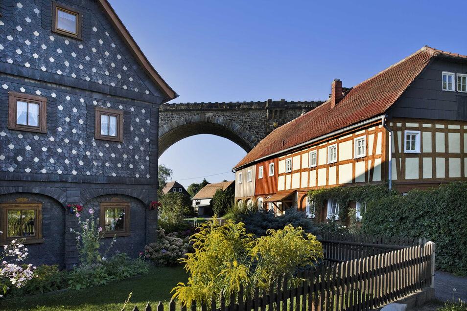 Obercunnersdorf in der Oberlausitz ist für seine Umgebindehäuser bekannt. Eins könnte ein Pop-up-Store werden.