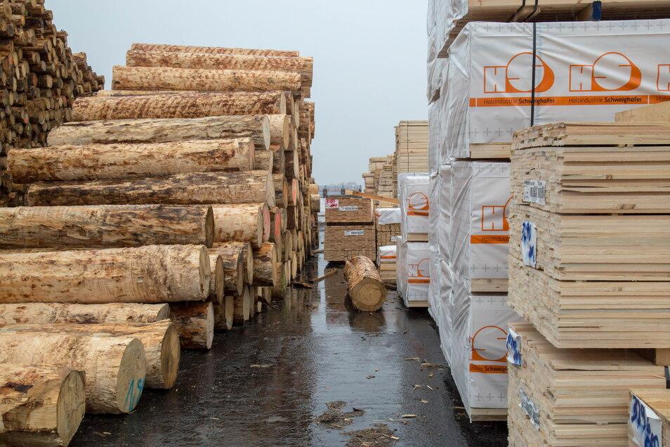 Mit dem Sägewerk im Gewerbegebiet kann die Gemeinde Kodersdorf einen Beitrag zum künftigen Kompetenzzentrum für Holzbau leisten.