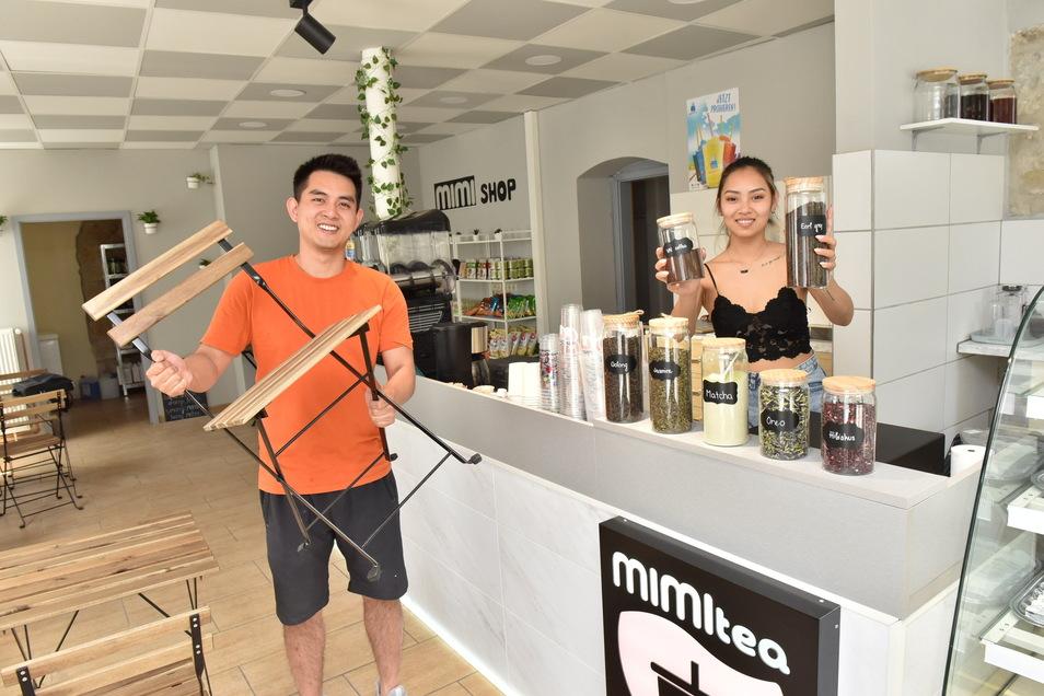 Neueröffnung: Ky Nguyen und seine Partnerin Diana Do laden zu leckeren süßen Tees ein.