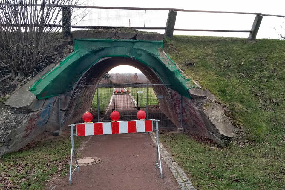 Seit Anfang des Jahres ist diese Brücke in Kesselsdorf gesperrt.