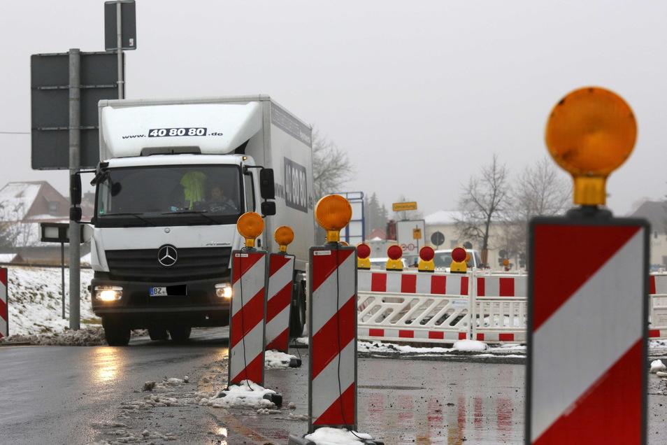 An der B 97 in Laußnitz wird bereits seit einiger Zeit gebaut. Das Bundesstraßenprogramm des Freistaates sieht für dieses Jahr die Fortführung der Arbeiten vor.