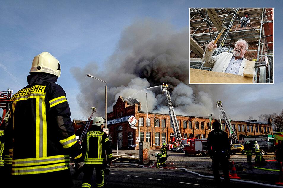 Nach dem Großbrand läuft nun der Wiederaufbau im Görlitzer Gewerbepark Roscher.
