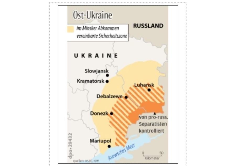 Die geografische Lage macht Mariupol zu schaffen. Russland kontrolliert den Zugang zum Asowschen Meer.