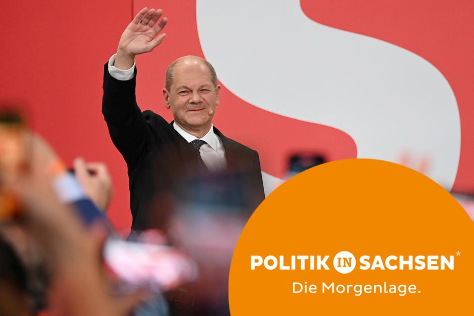 SPD-Kanzlerkandidat Olaf Scholz konnte bei der Bundestagswahl mit seiner Partei das beste Ergebnis einfahren.