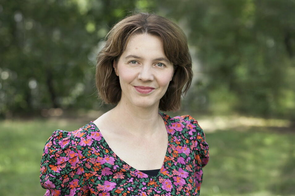 Die Autorin Peggy Mädler war in der Montessorischule Huckepack in Dresden zu Gast - Corona geschuldet allerdings per Videokonferenz zugeschaltet.