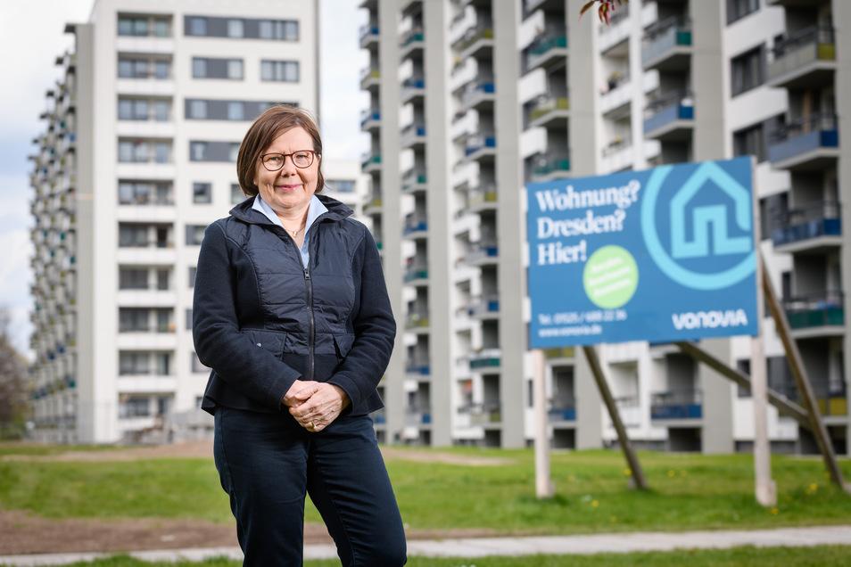 Martina Pansa ist als Regionalbereichsleiterin für die Dresdner Vonovia-Wohnungen zuständig. Eines der letzten Projekte: In der Hochschulstraße wurden rund 800 Wohnungen modernisiert.