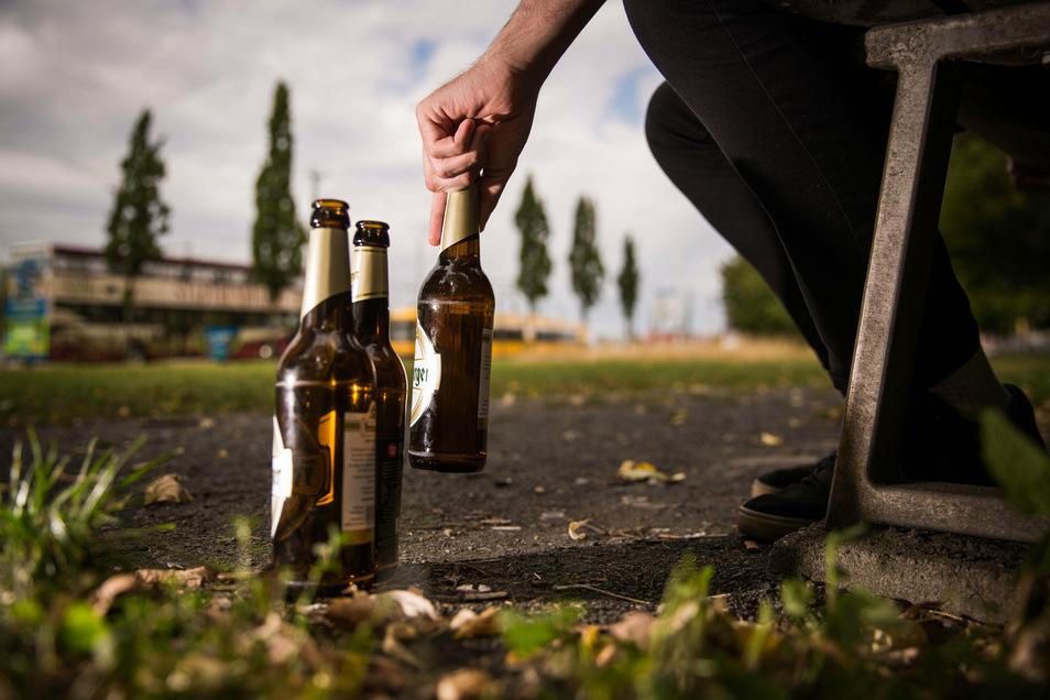 Alkohol in der Öffentlichkeit – in Pulsnitz wurden vor allem junge Leute öfters alkoholisiert erwischt.