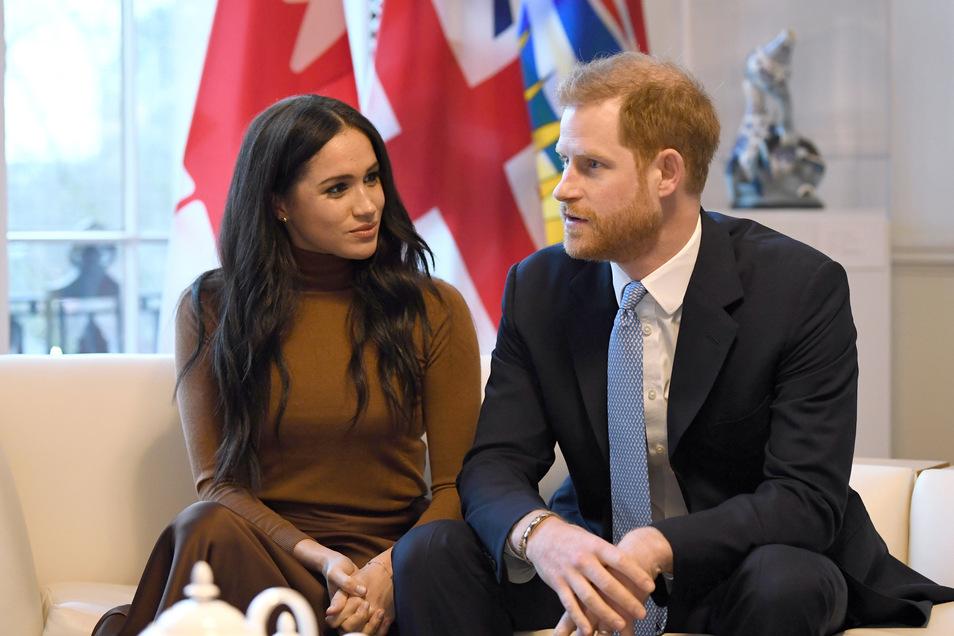Sie gehen ihre eigenen Wege: Prinz Harry und seine Frau Meghan, Herzogin von Sussex.