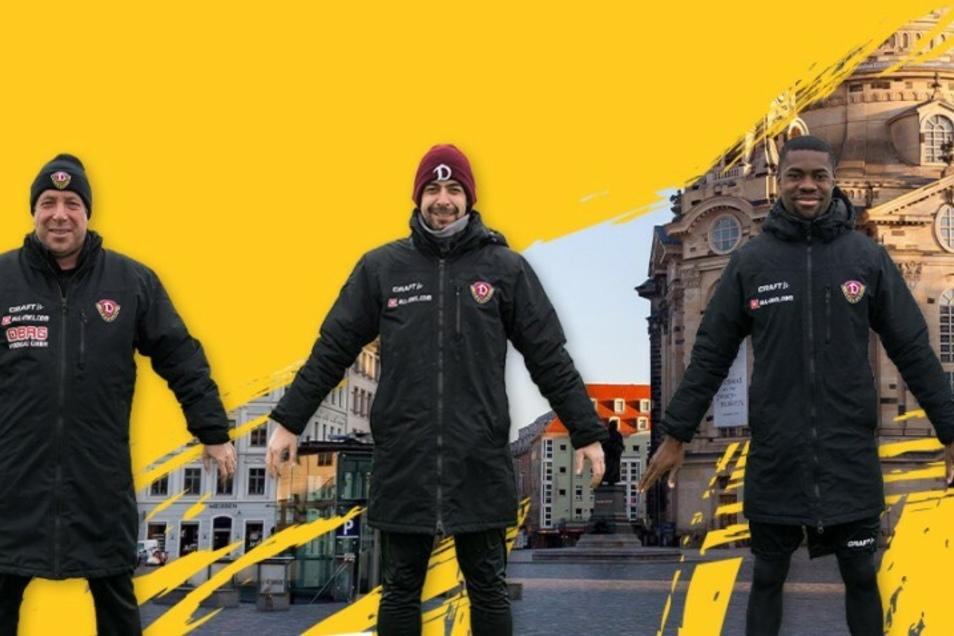 Auch Dynamo beteiligt sich an der virtuellen Menschenkette zum 13. Februar in Dresden, unter anderem mit Cheftrainer Markus Kauczinski, Co-Trainer Ferydoon Zandi und Neuzugang Leroy Kwadwo.