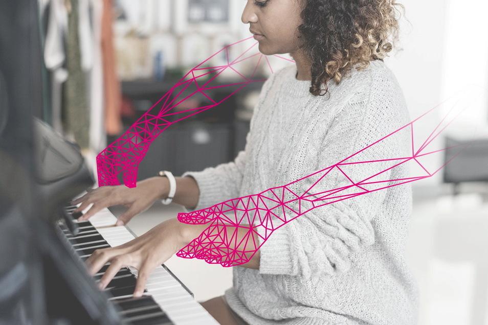 Wie lernen wir in Zukunft das Klavierspielen und wie kann uns künstliche Intelligenz dabei helfen? Ein Dresdner Forschungsprojekt will diese Fragen beantworten.