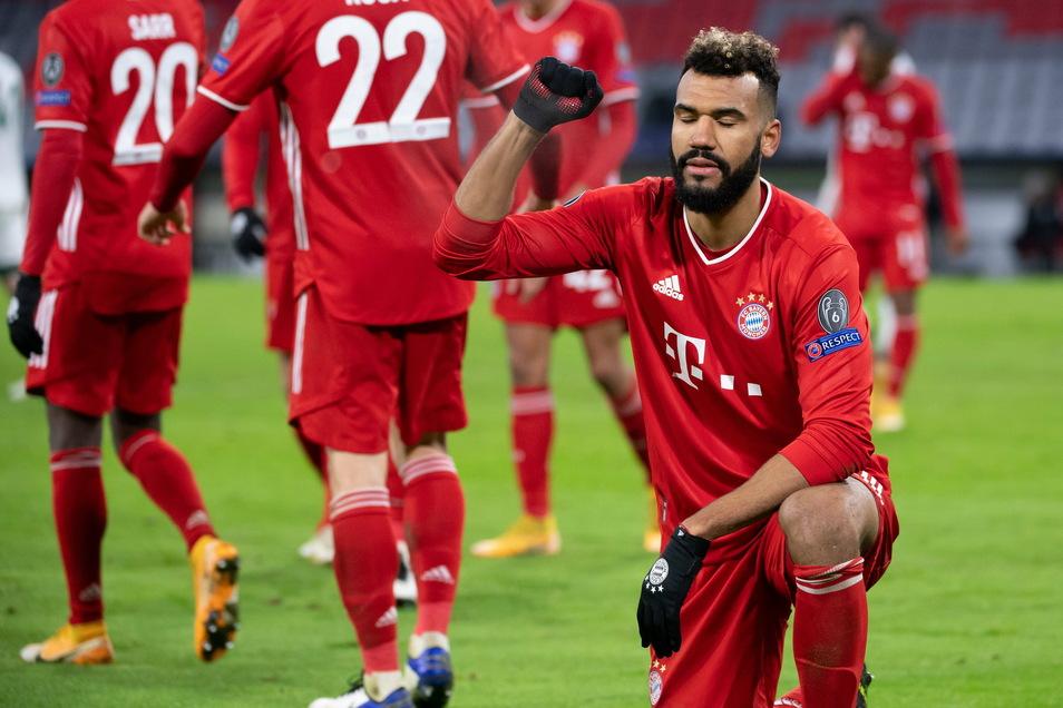 Eric Maxim Choupo-Moting von München jubelt über sein Tor zum 2:0.