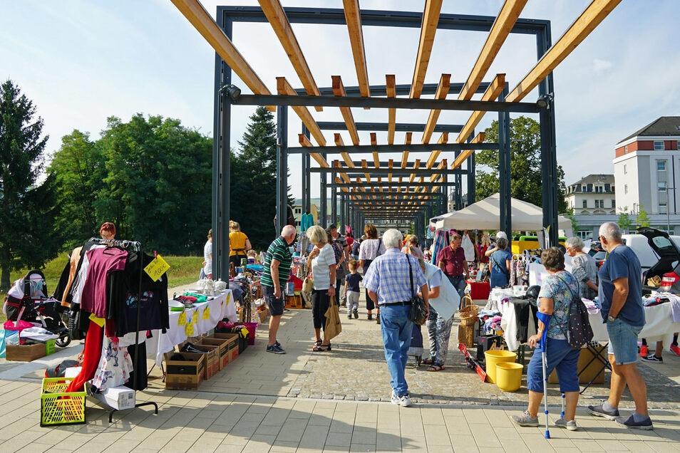 Ein Bild aus der Normalität: Markttag in Freital im vergangenen Sommer