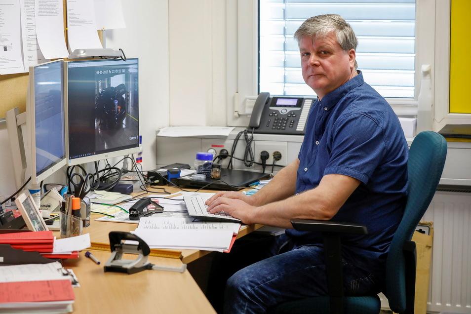 """Kriminalhauptmeister Frank Lange ist Ermittler im Kommissariat für Eigentums- und Bandenkriminalität der Görlitzer Kripo in Seifhennersdorf.. Am Fall """"Monolith"""" hat er über ein Jahr lang gearbeitet."""
