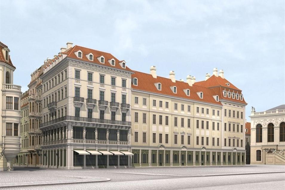 Diese Visualisierung zeigt, wie das Gebäude früher einmal aussah.
