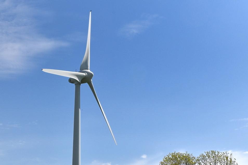 Windkraftwerk der Agrargesellschaft Sadisdorf bei Hennersdorf.