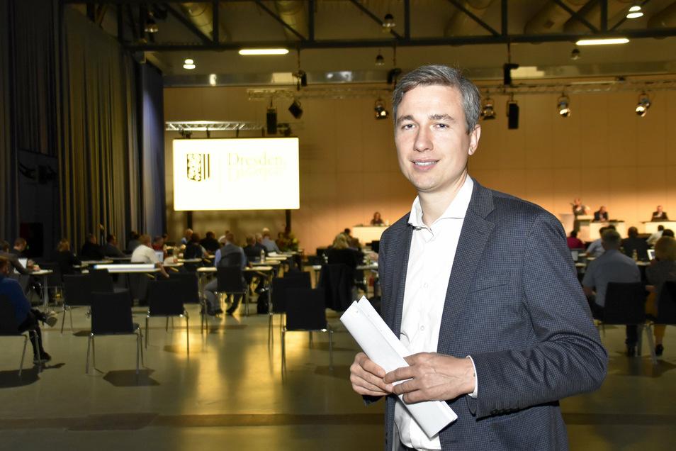 Stephan Kühn ist Dresdens neuer Baubürgermeister. Er wurde nun vom Stadtrat gewählt.