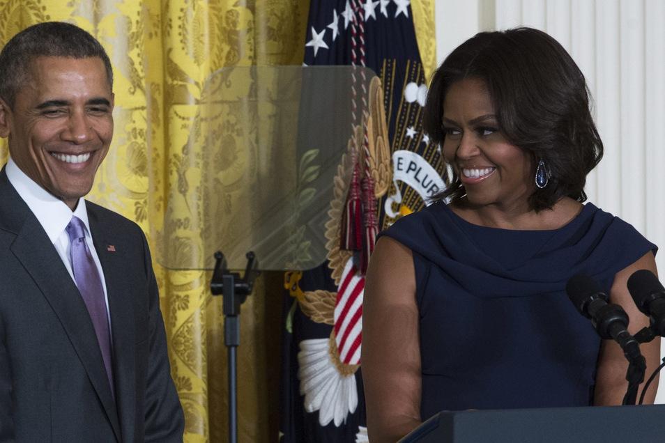 """Trotz aller Probleme sagt Michelle Obama: """"Wir haben eine sehr starke Ehe""""."""