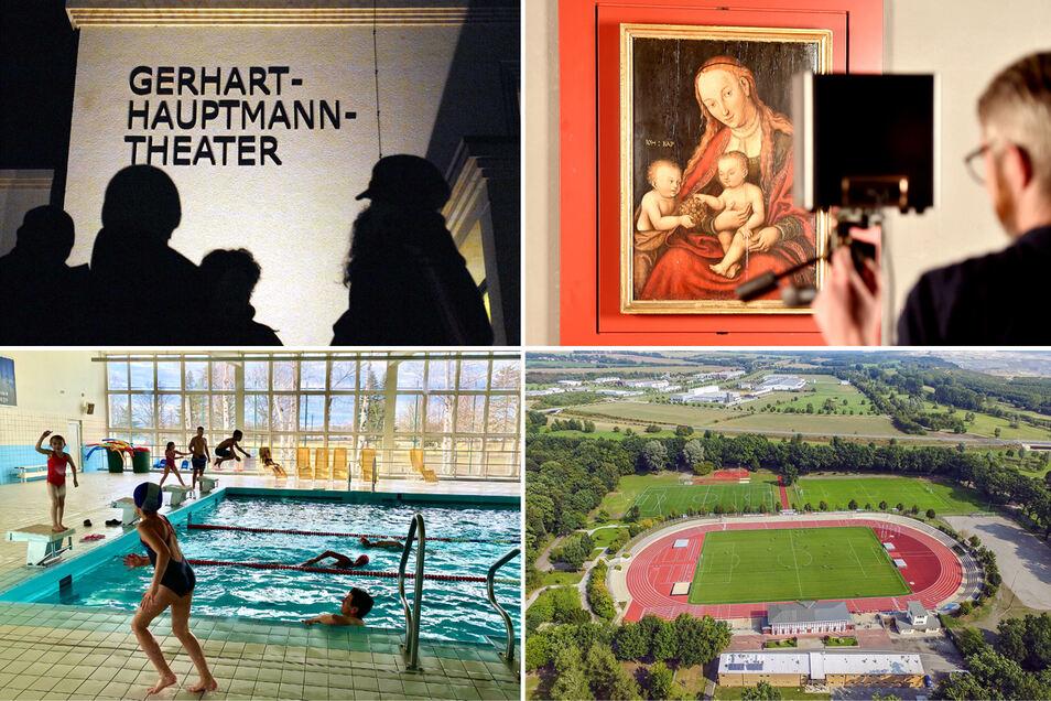 Das sind nur vier der freiwilligen Aufgaben, für die Zittau zahlt: für das Theater, für das Museum, für den Schwimmunterricht von Oberschülern und für die Nutzung von Sportstätten durch Zittauer Vereinssportler.