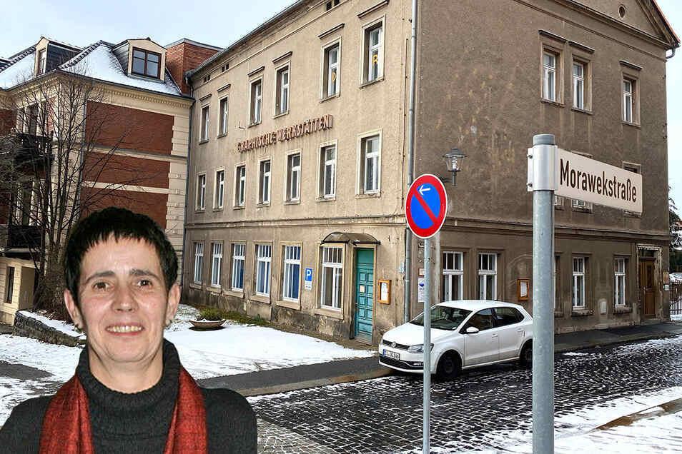 """Im Töpferberg 8 in Zittau hatte der Verein """"Frauen helfen Frauen"""" zuletzt seinen Sitz. Birgit Brincker war viele Jahre Vorstandsfrau und muss nun den Verein liquidieren."""