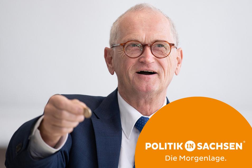 Karl-Heinz Binus, Präsident des Sächsischen Rechnungshofes, rügt die sächsische Regierungskoalition für ihre Finanzpolitik.