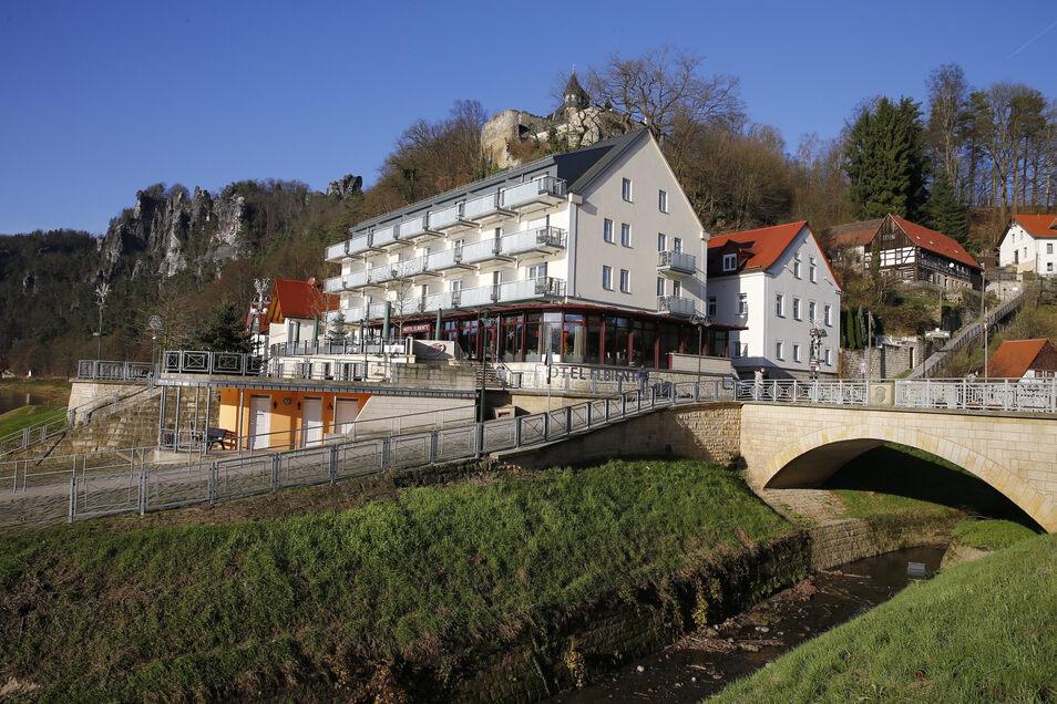 """Im Spa-Bereich im Hotel """"Elbiente"""" in Rathen gab es ein Feuer."""