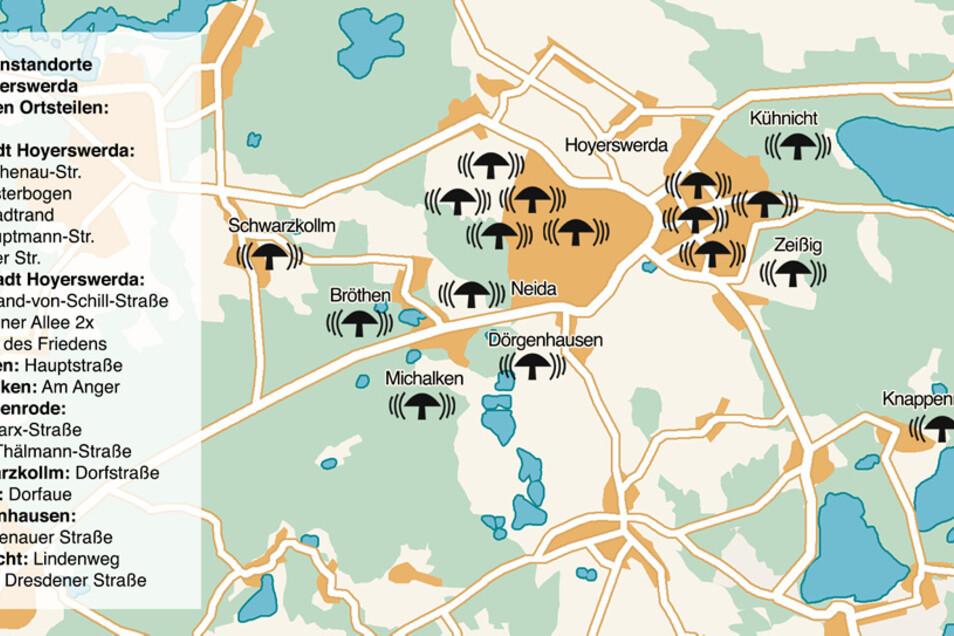Insgesamt sind in Hoyerswerda 18 sogenannte ortsfeste Sirenen betriebsbereit, zwei davon vollelektronisch.