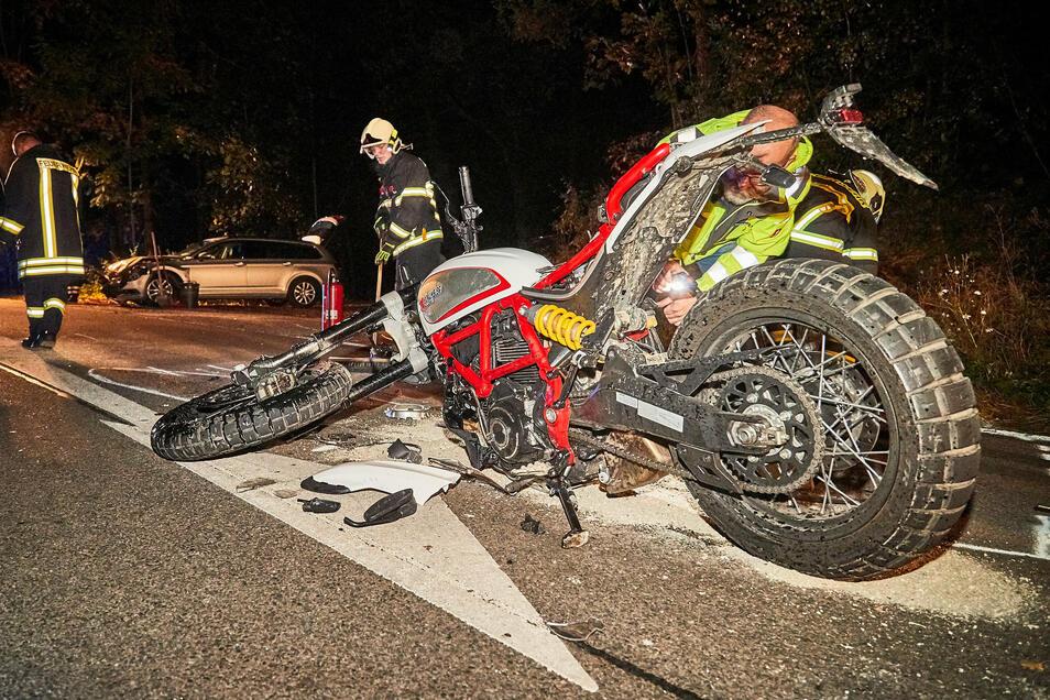 Bei einem der vielen Unfälle auf der Poisentalstraße wurde am 17. Oktober 2019 ein 20-jähriger Motorradfahrer schwer verletzt. Er verlor dabei einen Fuß.