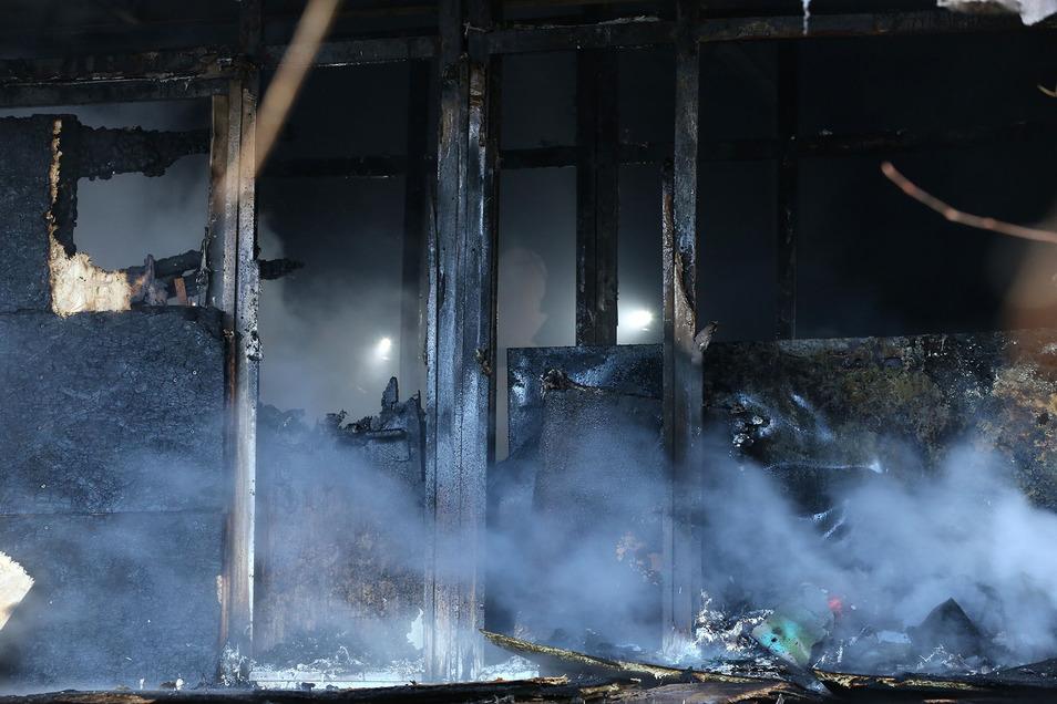 Der Eingangsbereich brannte aus.