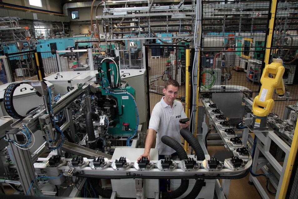 FEP-Produktionshalle in Pirna: Derzeit läuft alles auf Sparflamme.
