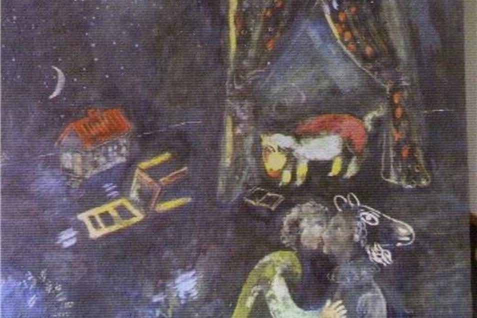 Marc Chagall: Die Familie, die Liebe, die Bibel und der Zirkus waren die Themen von Marc Chagall, dem französischen Maler russisch-jüdischer Herkunft. Diese allegorische Szene ist eine bisher unbekannte Gouache, ihre Herkunft unklar. Das Bundesamt für zentrale Dienste und offene Vermögensfragen vermisst eine allegorische Szene von Chagall. Ob es wohl diese ist?