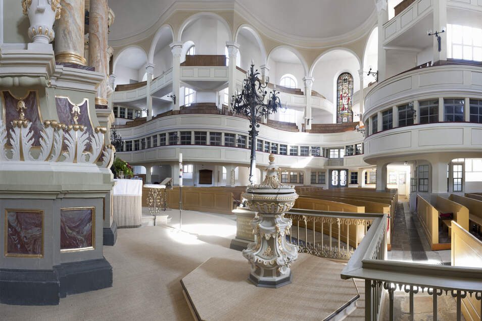 """Die Marienkirche wird oft als die kleine Schwester der """"Dresdner Frauenkirche"""" bezeichnet."""