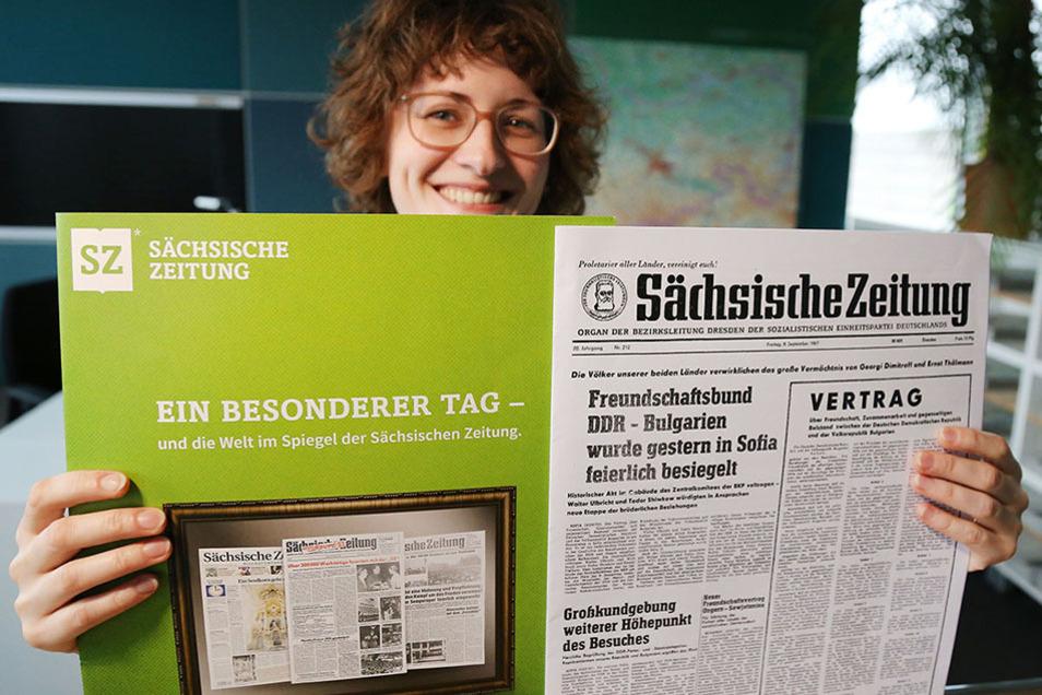 Die Sächsische Zeitung zeigt: So wird Vergangenheit gedruckt und in der Gegenwart gefeiert.