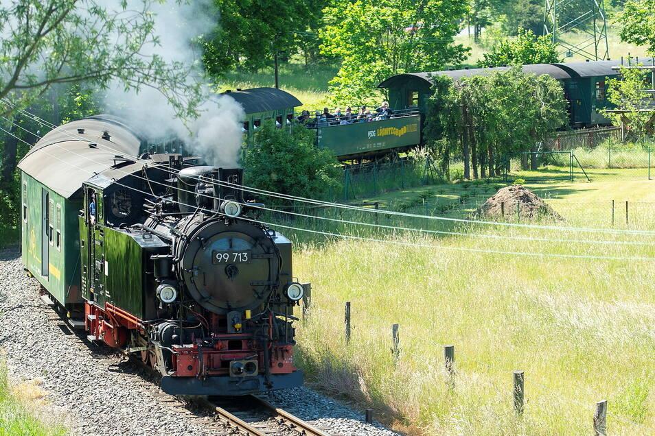 Am Sonntag schnauft die Bahn nicht durch den Lößnitzgrund.