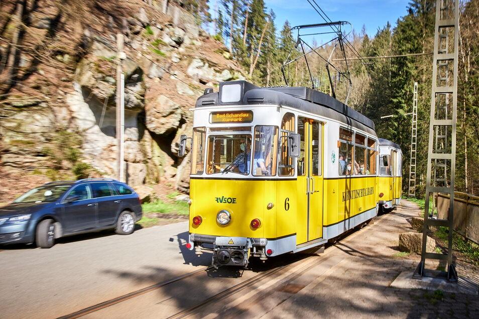 Die Kirnitzschtalbahn soll verlängert werden. Auf ihrem Weg berührt sie fast nur Schutzgebiete. Ein Problem?