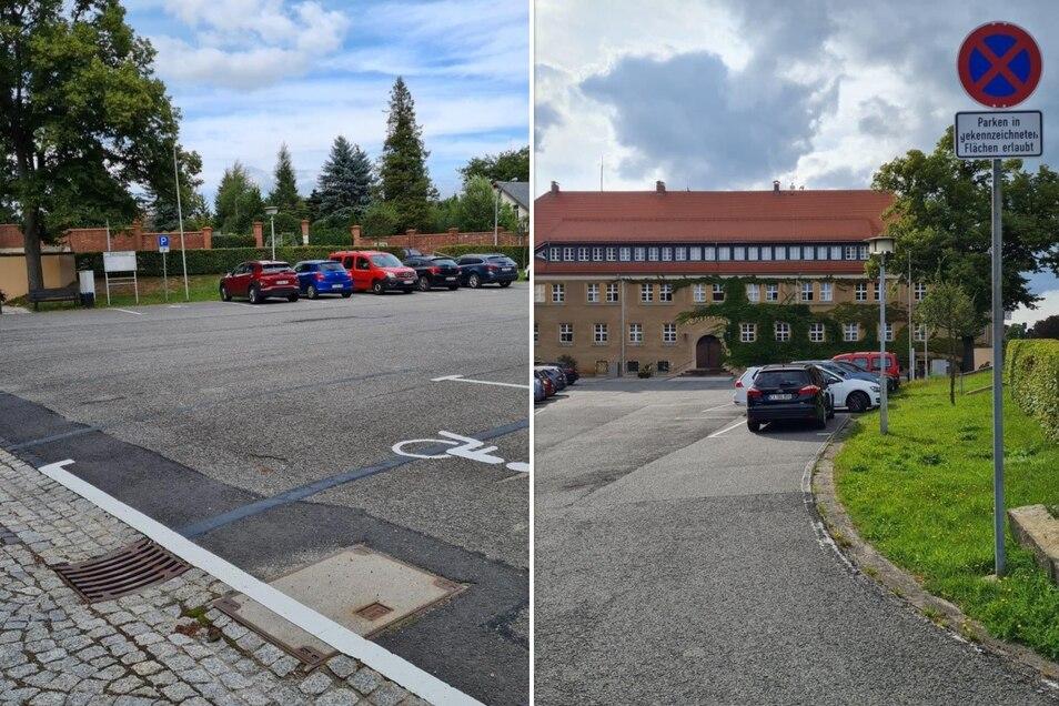So wird jetzt auf dem Rathausplatz in Seifhennersdorf geparkt.
