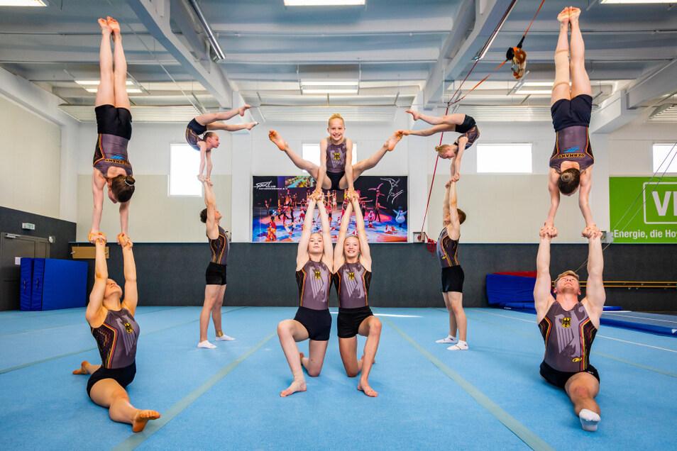 Ein Höchstmaß an Kraft, Beweglichkeit und Koordinationsvermögen hat diese Sportlerinnen und Sportler zu WM-Teilnehmern gemacht.