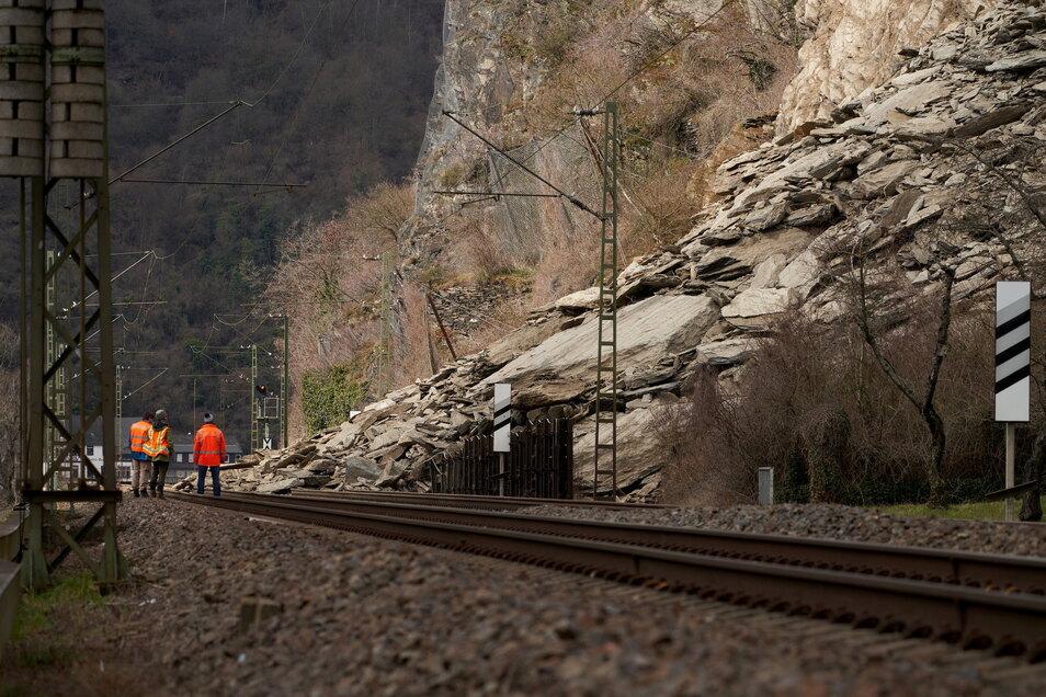 Die Strecke im Mittelrheintal gilt als meistbefahrere Güterzugroute Europas.