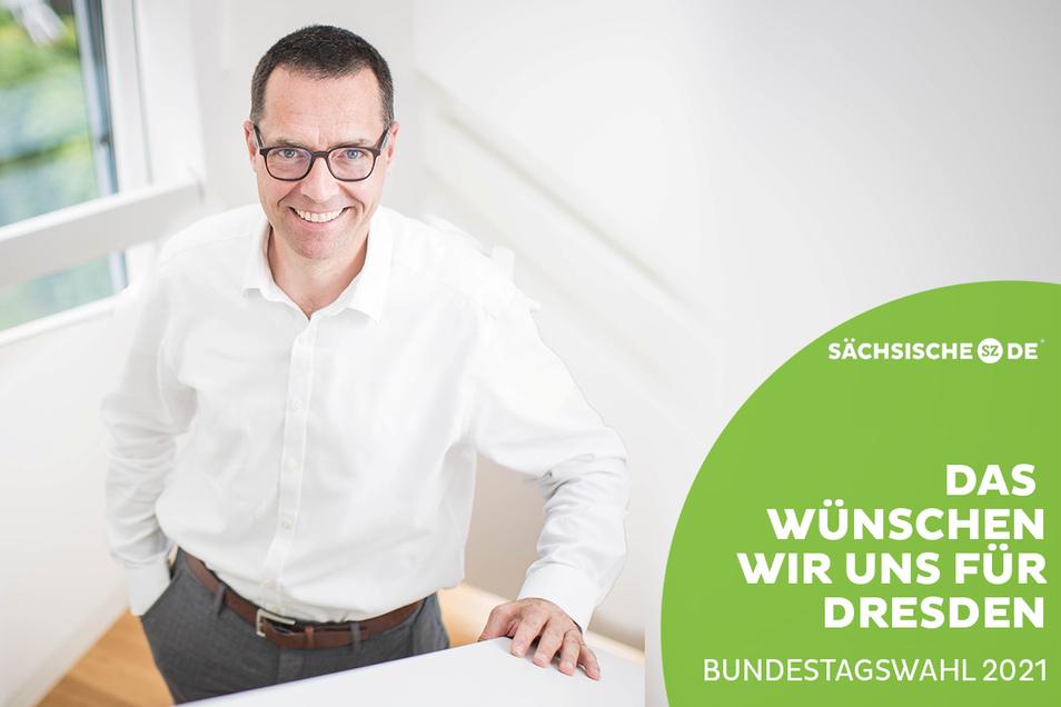 Dirk Röhrborn ist Vorstand Silicon Saxony und sagt, man darf nicht immer vorschieben, warum etwas nicht geht.