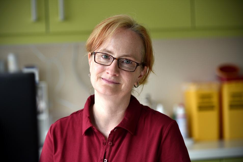 Babette Hanspach, Fachärztin für Psychiatrie gehört jetzt zum Team der Praxis von Kay Herbrig in Herrnhut.