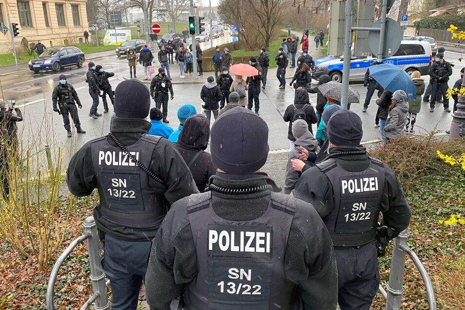 Das Aufgebot der Polizei war groß.