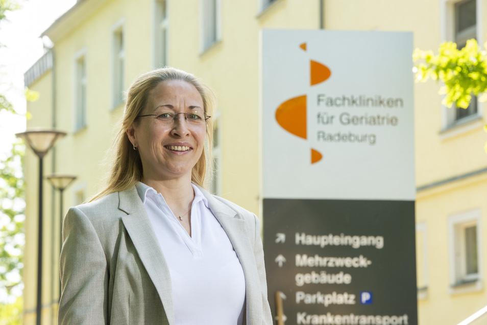 Chefärztin Daniela Diessner-Koerner führt die Fachkliniken für Geriatrie Radeburg, die ältere Patienten behandeln, durch die Corona-Krise.