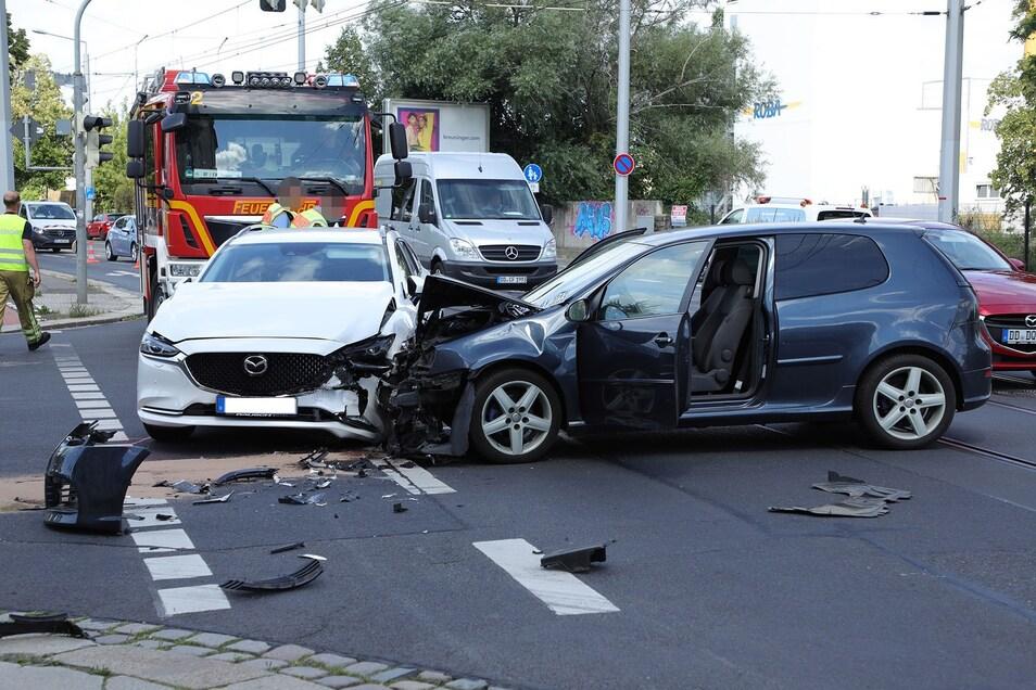 Am 30.07.2021 kam es gegen 10.50 Uhr auf der Kreuzung Hamburger Straße/Waltherstraße zu einem Verkehrsunfall.