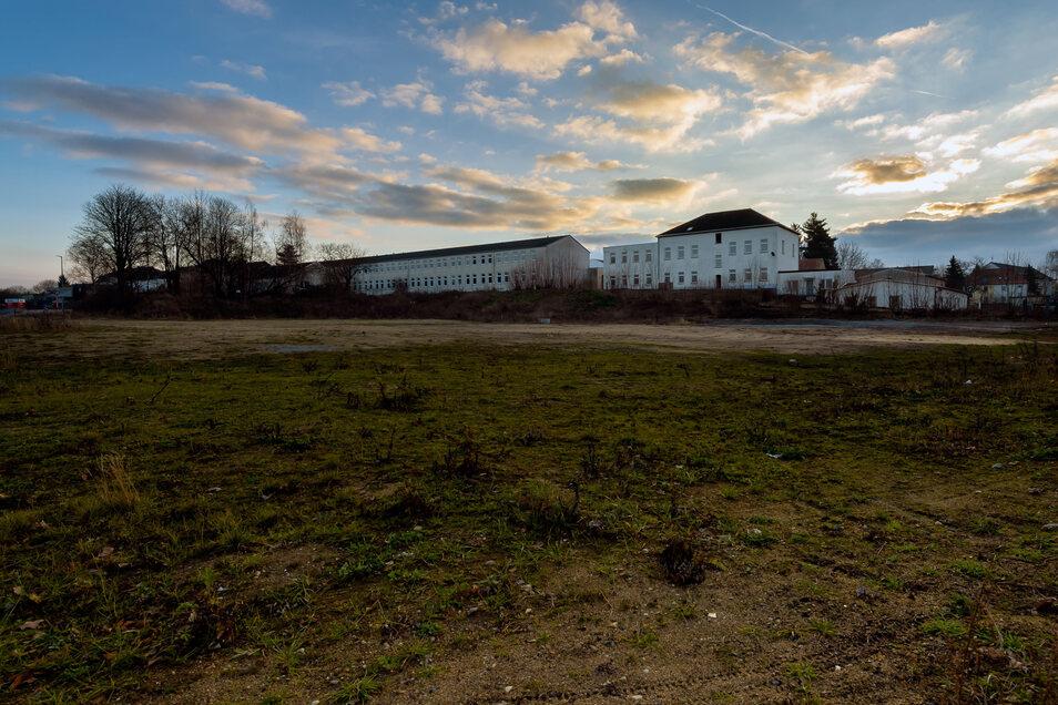 Auf diesem Grundstück am Drebnitzer Weg und der Süßmilchstraße soll gebaut werden. Für einen Netto-Markt gibt es bereits Baurecht. Der Grundstückseigentümer möchte aber auch mehrere Fachmärkte errichten.