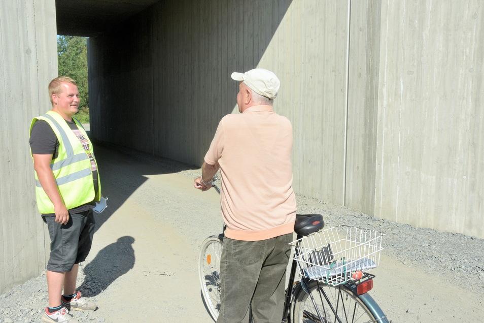 Die neue Bahnunterführung Auenstraße ist eine rasche und sichere Verbindung in die Innenstadt für Fußgänger und auch Radfahrer aus Kleinraschütz.