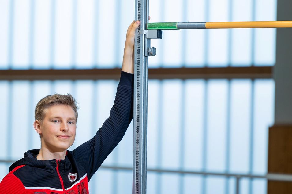 Für Hochspringer Jonas Wagner vom Dresdner SC liegt die eigene Messlatte nun bei 2,28 Meter.