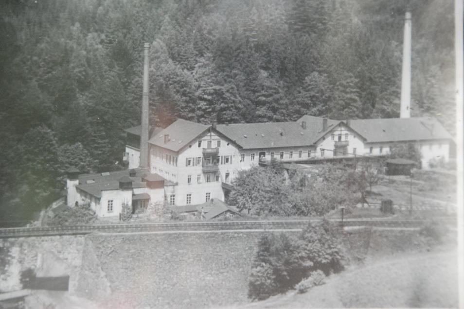 Die Sputhmühle im Sebnitztal wurde immer weiter ausgebaut.