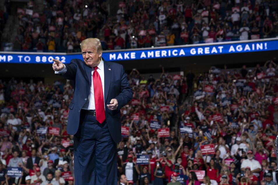 Donald Trump will wieder Wahlkampf vor Publikum machen