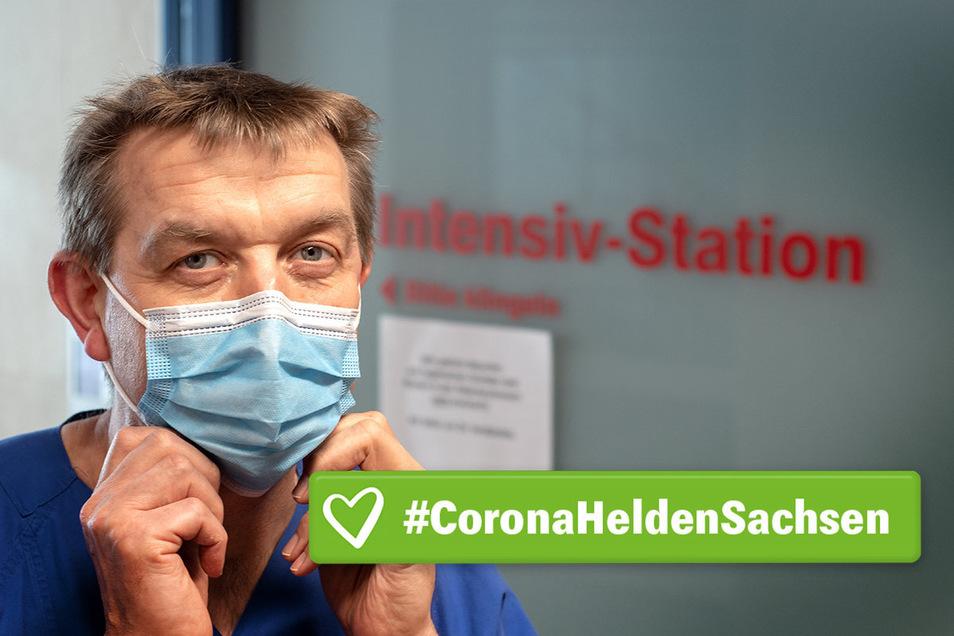 Matthias Cyrnik leitet in der Leisniger Helios-Klinik seit rund drei Jahren die Intensivstation (ITS). Dort sind er und sein Team so nah wie sonst niemand am Coronavirus und den damit infizierten Patienten.